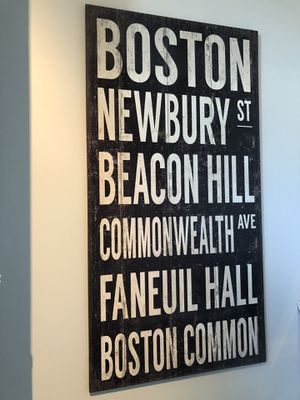 Wooden Boston sign for Sale in Boston, MA