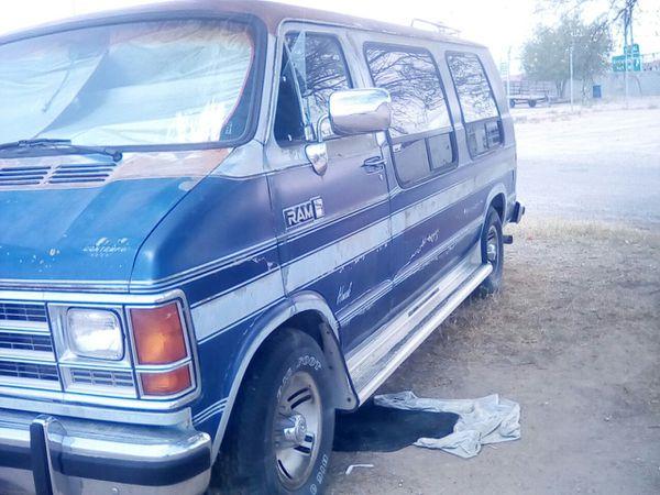 89 dodge b350 one ton conversion van needs wiring harness great mator   tranny tires new custom exhaust