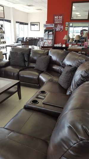 Brand New Leather Power Reclining Sectional for Sale in Chantilly, VA
