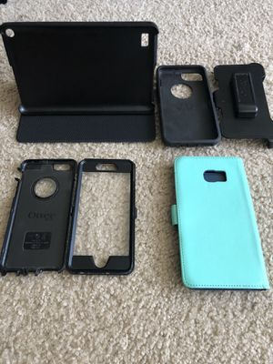 iPhone 6 Otterbox defender Galaxy 6+ edge android 8' cases & nEw hdmi cords for Sale in Severn, MD