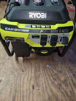 Ryobi 6500 Watt Generator Used Like New Working Well  Thumbnail