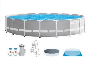 Photo Intex 18ft x 48in Prism Frame Above Ground Swimming Pool Set with Pump