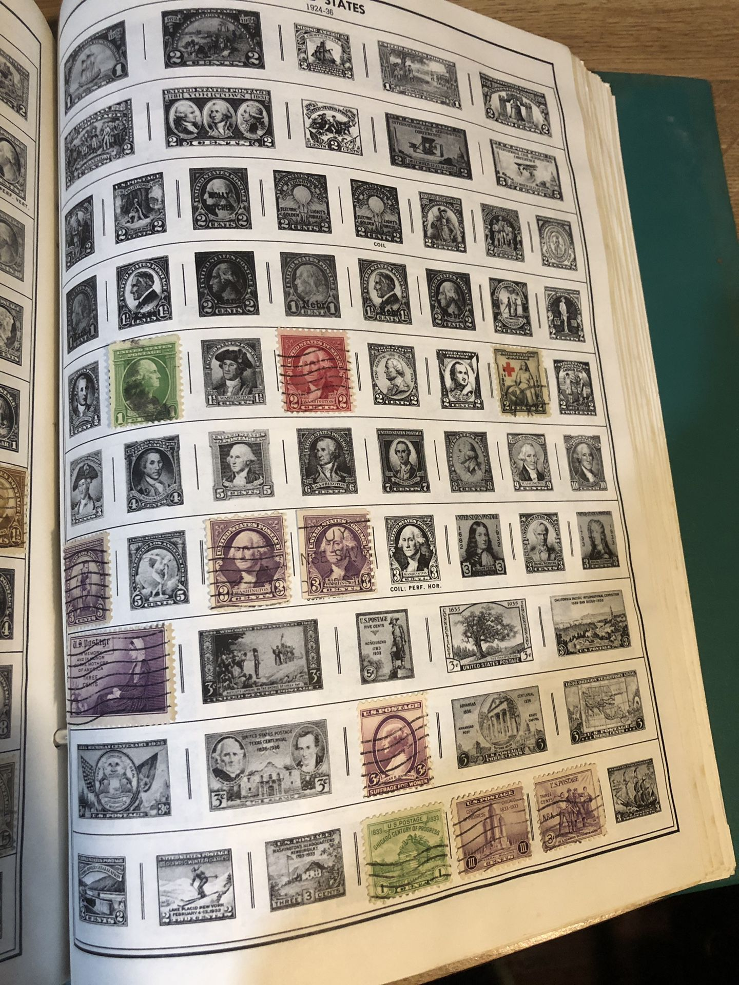 Stamp Collection U.S. Stamps 1924-1938