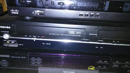 Kenwood 5 disc changer, Toshiba VHS/DVD, Cisco additional channels Thumbnail