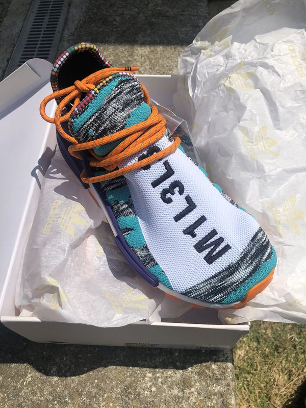 05dc9581a Adidas NMD HU Pharrell solar orange pack size 8 for Sale in South ...