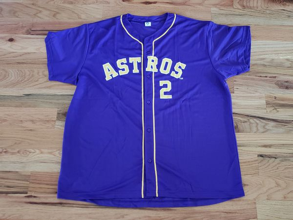 quality design 80a86 3ec10 Alex Bregman Astros Purple Gold jersey SGA XL for Sale in Houston, TX -  OfferUp