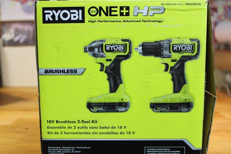 2 in 1 RYOBi 18V Drill/Driver Impact Kit