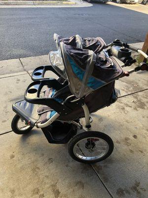 Schwinn Tourismo Blue & Gray Double Stroller - like new for Sale in Centreville, VA