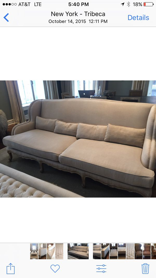 pair of abc home linen couches furniture in new york ny offerup