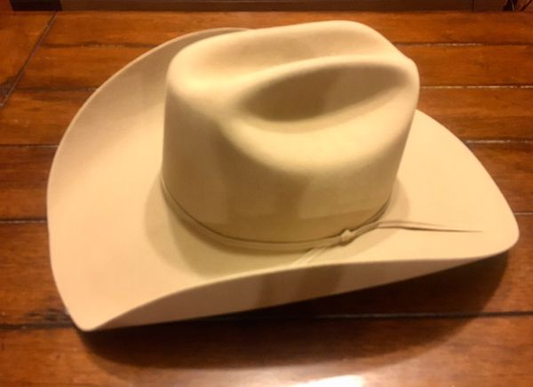 4596795e228 Legendary Stetson 5x Fur Felt Cowboy Hat Ranch Tan Size 59 - 7 3 8 ...