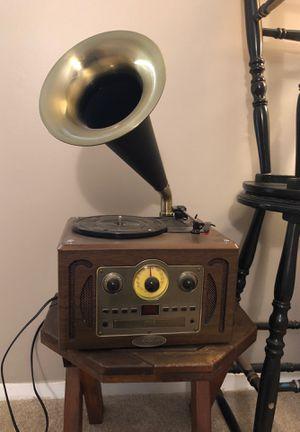 Photo Pyle Vintage record player w/ cd, am/fm, Bluetooth