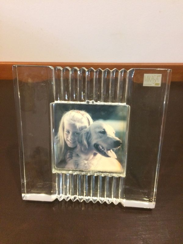 Mikasa Crystal frame for photo 4.5x4. Frame 8x7.5 for Sale in Edison ...