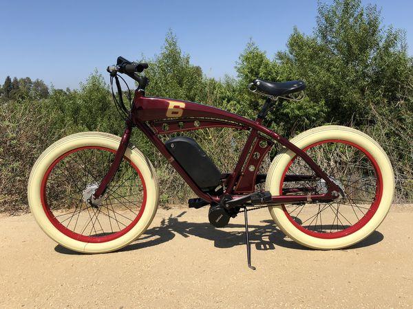 Custom Built Electric Bicycle Fast Board Track Racer Ebike Felt Luna Motor New Panasonic Lithium Battery Beach Cruiser