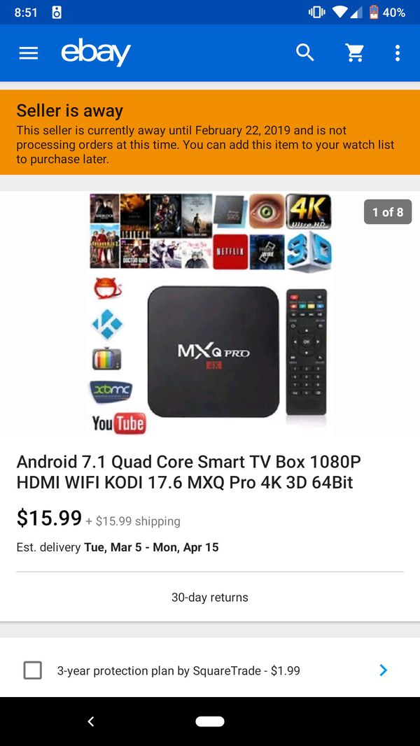 MXQ Android Box - missing remote and 5v cord for Sale in San Mateo, CA -  OfferUp