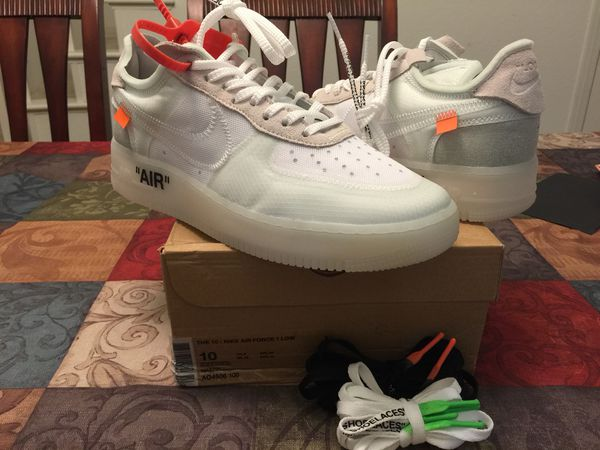 new product 44ef6 ecc86 Nike Air Force 1 low off white size 10 (Clothing   Shoes) in Corona, CA -  OfferUp