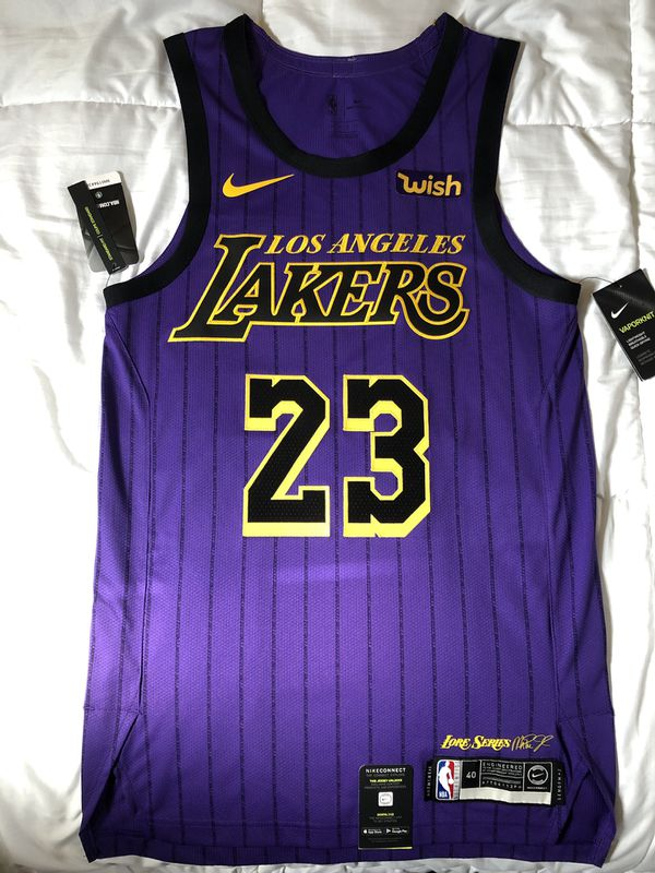 42be9d46fb113 NIKE LEBRON JAMES AUTHENTIC CITY EDITION JERSEY for Sale in Los ...
