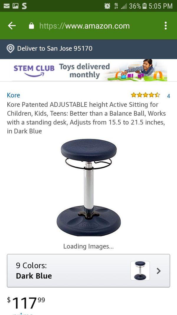 Cool New Kore Grow With Me Adjustable Wobble Kids Teens Stool Inzonedesignstudio Interior Chair Design Inzonedesignstudiocom