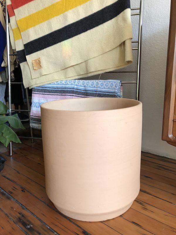 xl architectural ceramics cylinder pot planters matching matte pair