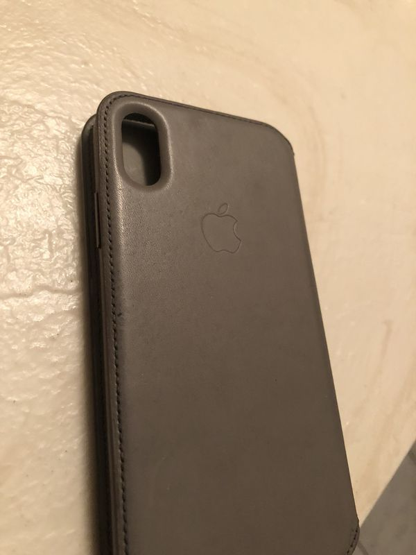 new styles 60232 c1221 iPhone X Folio Leather Case Authentic Taupe for Sale in Fresno, CA - OfferUp