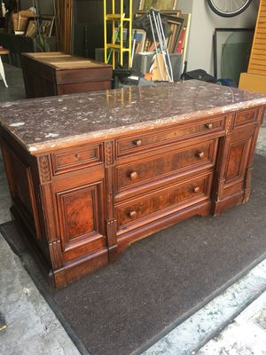 Antique buffet/dresser with marble top Eastlake period for Sale in Tampa, FL