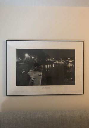 Black and White photo of Parisian lovers for Sale in Silver Spring, MD