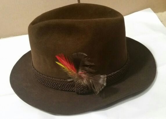 19e39c2f464 Vintage SUPERB! Stetson Key Club THE IMPERIAL Fedora Ultimate-Finish Sz 7  FINEST STETSON Feels Awesome!