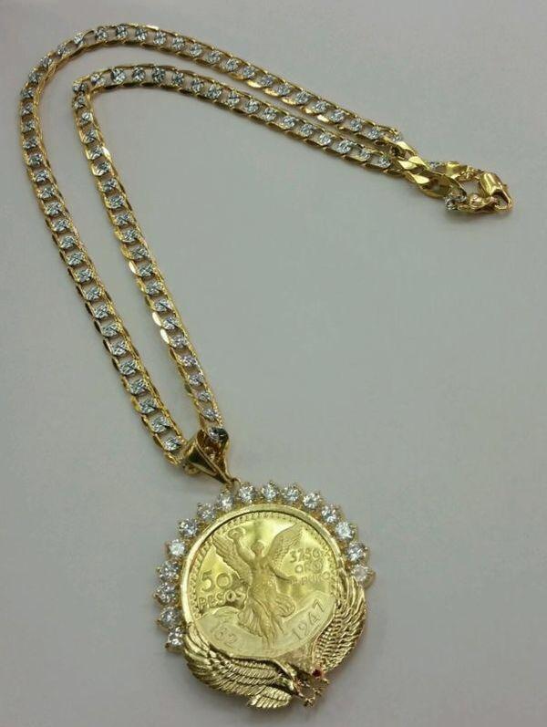Mexican Centenario 50 Pesos Gold Filled