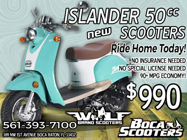 Brand New Wolf Islander 50 Scooter For Sale! for Sale in