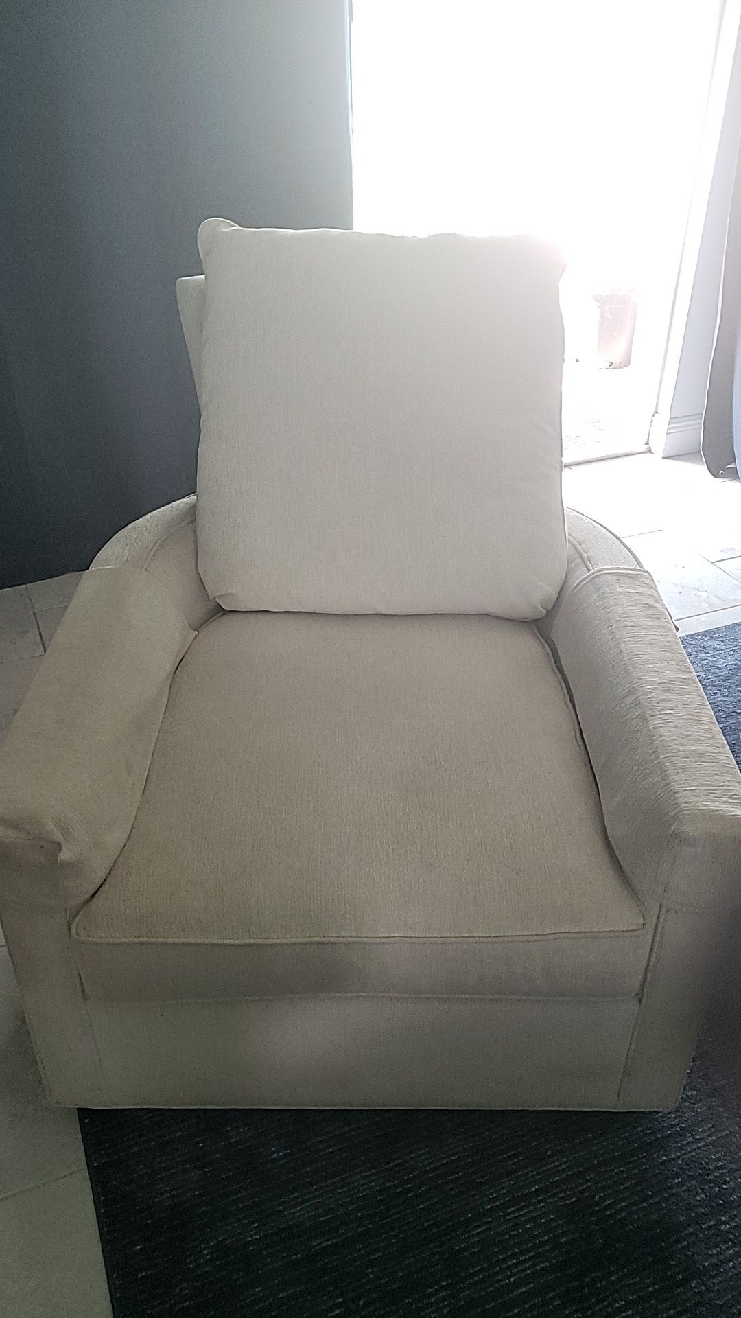 Big living room chair with leg rest