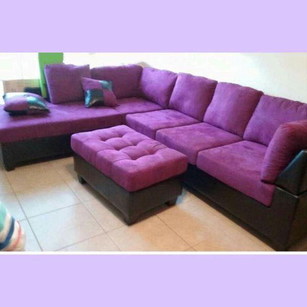 purple furniture. NEW 2 Pcs Sectional Microfiber Purple Color (Furniture) In Norcross, GA - OfferUp Furniture