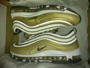 Nike Air Max 97 Gold Metallic 3M SIZE 8 for Sale in Falls Church, VA