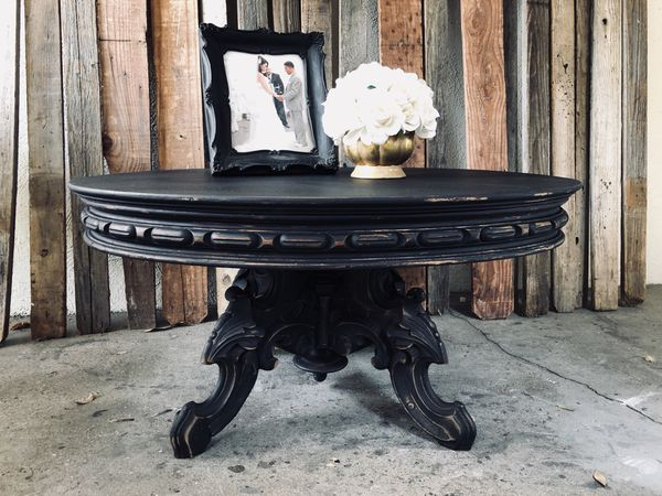 Shabby Chic Antique Black Coffee Table For In Riverside Ca Offerup