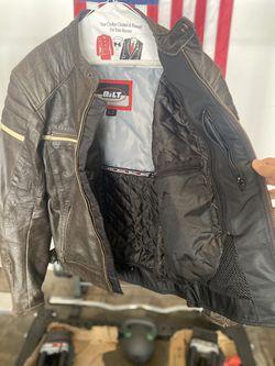 Bilt Leather Jacket Brown size MED Thumbnail