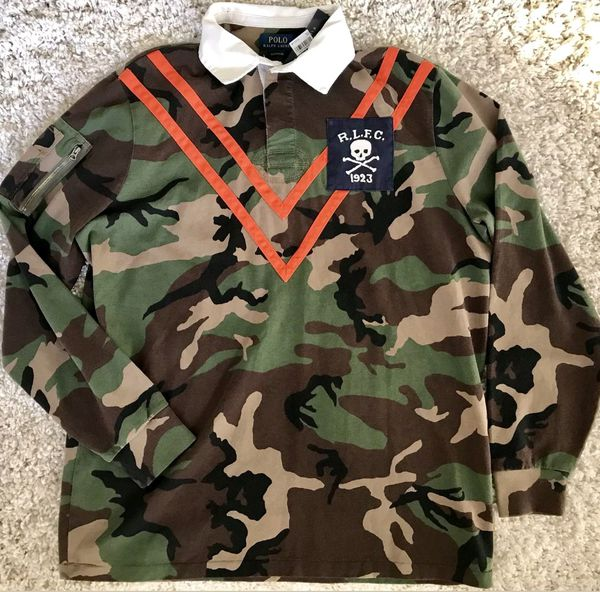 a89eead6f8a Nwt Polo Ralph Lauren camo rugby Size Medium for Sale in The Bronx ...