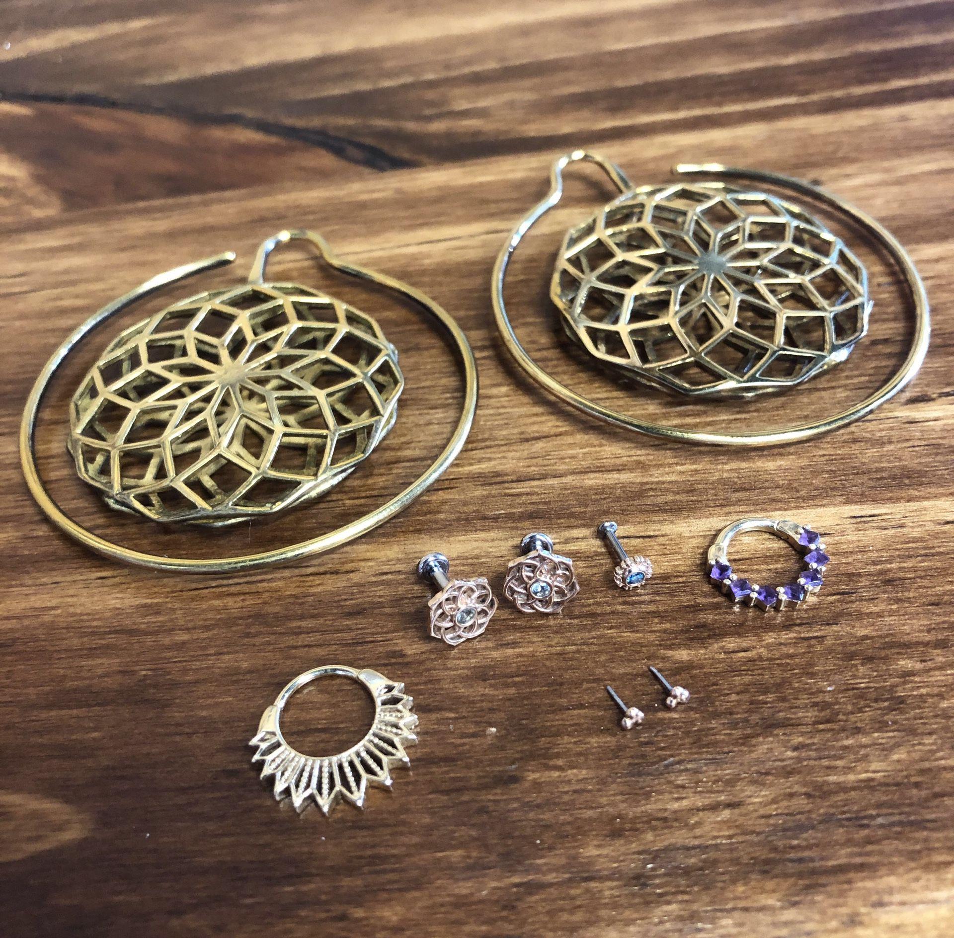 Assorted Gold BVLA Body Jewelry