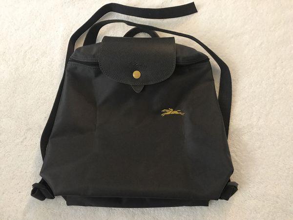 4757d853f14c Longchamp Le Pliage Club 1699 Nylon Backpack One Size - Gunmetal Graphite