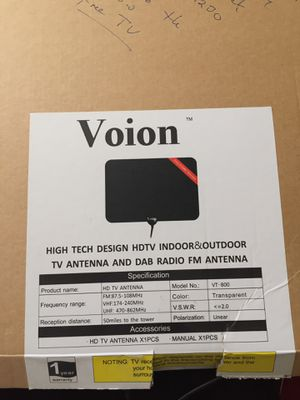 TV Antenna, Voion 50 Miles Paper Thin Indoor HDTV Antenna for Sale in Kent, WA