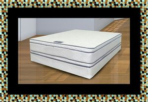 Queen mattress double pillow top with box spring for Sale in Silver Spring, MD