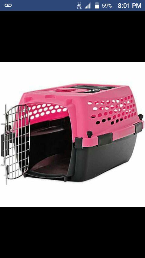 """You & Me Relaxing 24"""" Pink & Black Dog Kennel"""