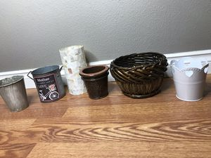 Assorted plant and candle holders for Sale in Tacoma, WA