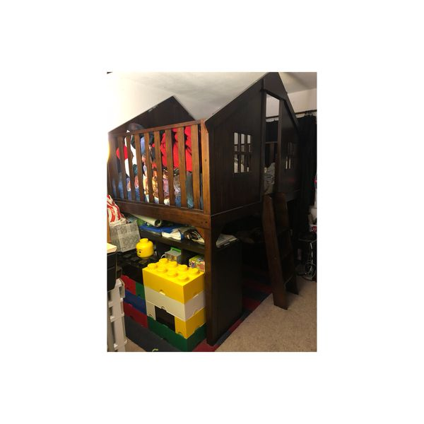 Pottery Barn Treehouse Loft Bed Full For Sale In San Diego