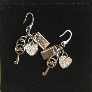 Mk Michael Kors charm earrings dangles for Sale in Silver Spring, MD