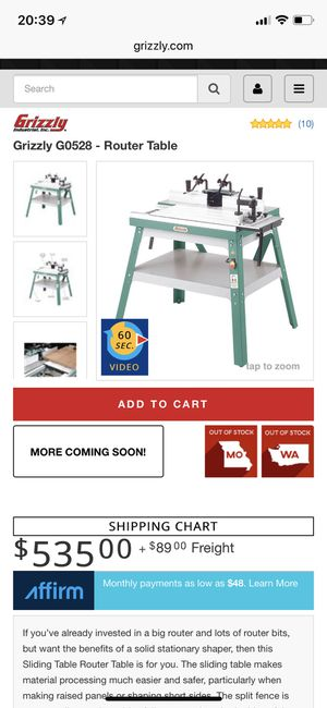 Grizzly Router Table for Sale in Federal Way, WA - OfferUp