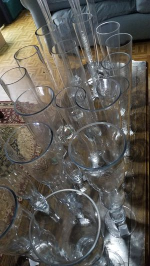 Lot of tall vases vase decor events flowers for Sale in Falls Church, VA