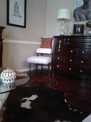 Faux fur ottoman for Sale in Jacksonville, FL