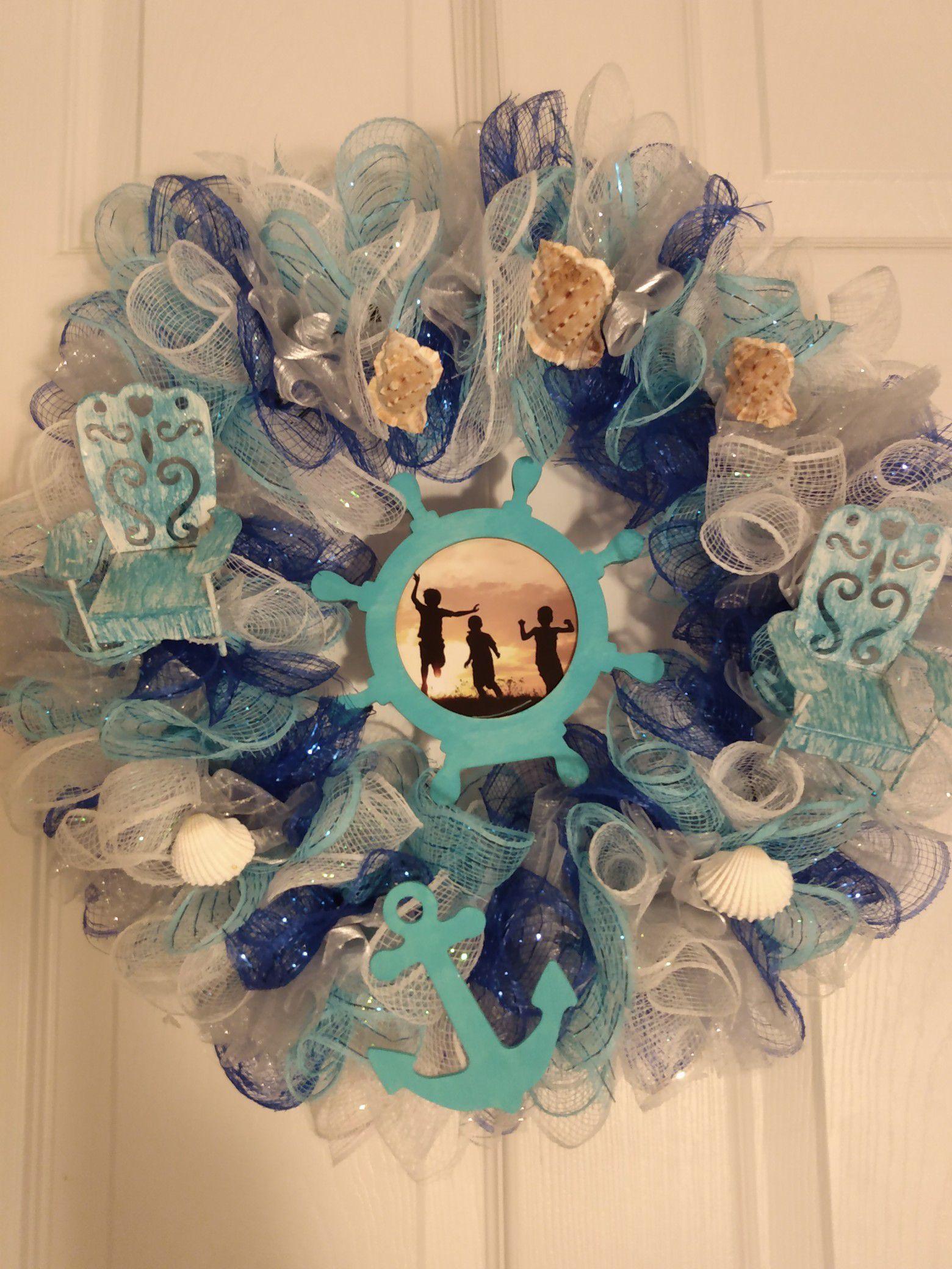 Beach theme wreath