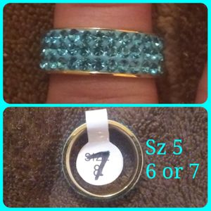 Blue crystal and stainless steel band. Available in size 5,6 & 7 for Sale in Glen Burnie, MD