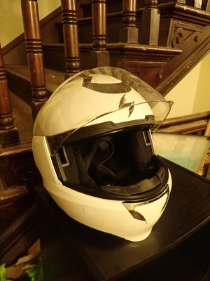FREE Motorcycle Helmet Sexy White Sleek Modern Safe for Sale in Arlington, VA