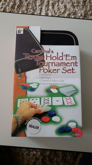 Poker set / cards and chips for Sale in Alexandria, VA