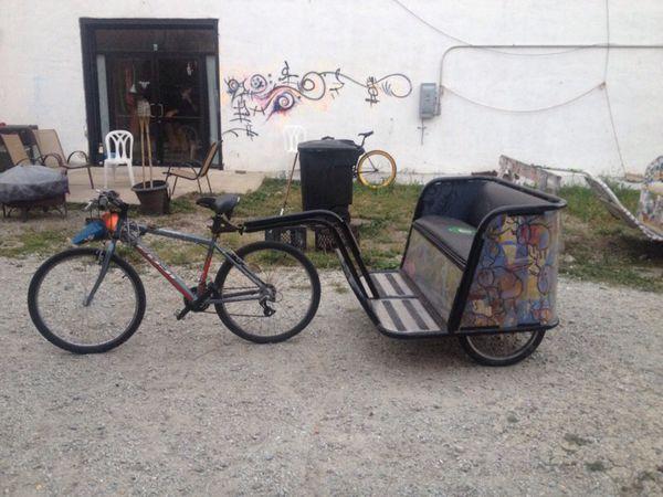 Pedicab Trailer Rickshaw Bike Trailer Bicycle Trailer